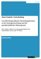 Alena Friedrich: Geschlechtsspezifische Darstellungsformen in der Anzeigenwerbung und ihr gesellschaftlicher Hintergrund