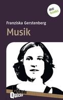 Franziska Gerstenberg: Musik - Literatur-Quickie ★★★