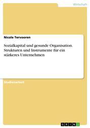 Sozialkapital und gesunde Organisation. Strukturen und Instrumente für ein stärkeres Unternehmen