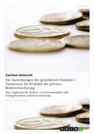 Carsten Heinrich: Die Auswirkungen des gesunkenen (Garantie-) Zinsniveaus für Produkte der privaten Rentenversicherung