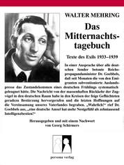Das Mitternachtstagebuch - Texte des Exils 1933-1939