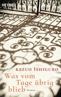 Kazuo Ishiguro: Was vom Tage übrig blieb ★★★★