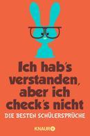 Iris Hechenberger: Ich hab's verstanden, aber ich check's nicht ★★