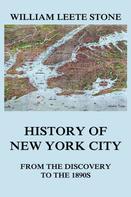 William Leete Stone: History of New York City