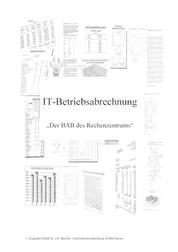 IT-Betriebsabrechnung - Der BAB des Rechenzentrums - Teil I