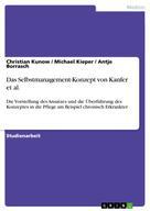 Christian Kunow: Das Selbstmanagement-Konzept von Kanfer et al.