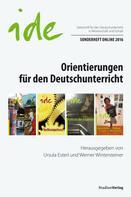: Orientierungen für den Deutschunterricht ★★★★★