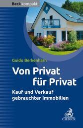 Von Privat für Privat - Kauf und Verkauf gebrauchter Immobilien