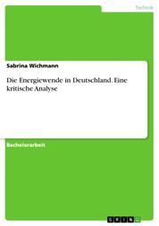 Die Energiewende in Deutschland. Eine kritische Analyse