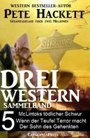 Pete Hackett: Pete Hackett - Drei Western, Sammelband 5