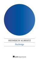 Heinrich Albertz: Nachträge