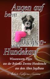 Augen auf beim Welpen- und Hundekauf - Wissenswerte Tipps aus der Bolonka Zwetna Hundezucht aus dem Alten Jagdhaus