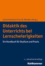 Didaktik des Unterrichts bei Lernschwierigkeiten - Ein Handbuch für Studium und Praxis