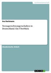 Teenagerschwangerschaften in Deutschland. Ein Überblick