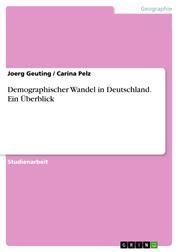 Demographischer Wandel in Deutschland. Ein Überblick