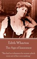 Edith Wharton: The Age of Innocence