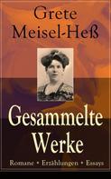 Grete Meisel-Heß: Gesammelte Werke: Romane + Erzählungen + Essays