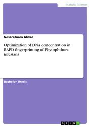 Optimization of DNA concentration in RAPD fingerprinting of Phytophthora infestans