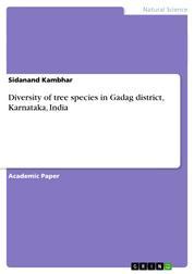 Diversity of tree species in Gadag district, Karnataka, India