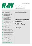 Roman Schneider: Der Mahnbescheid und seine Vollstreckung