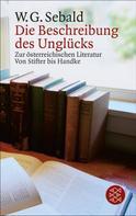 W.G. Sebald: Die Beschreibung des Unglücks
