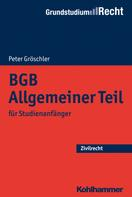 Peter Gröschler: BGB Allgemeiner Teil