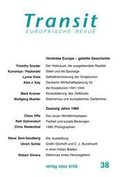 Transit 37. Europäische Revue - Politik der Vielfalt