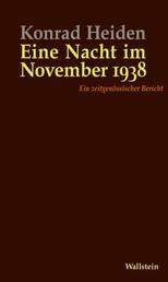 Eine Nacht im November 1938 - Ein zeitgenössischer Bericht