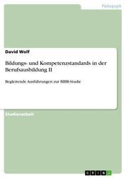 Bildungs- und Kompetenzstandards in der Berufsausbildung II - Begleitende Ausführungen zur BIBB-Studie