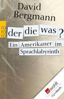 David Bergmann: Der, die, was? ★★★★