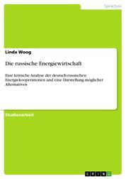 Die russische Energiewirtschaft - Eine kritische Analyse der deutsch-russischen Energiekooperationen und eine Darstellung möglicher Alternativen