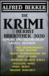 Die Krimi Herbst-Bibliothek 2020 - Romane und Erzählungen großer Autoren