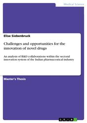 Challenges and opportunities for the innovation of novel drugs - An analysis of R&D collaborations within the sectoral innovation system of the Indian pharmaceutical industry