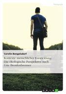 Carolin Bengelsdorf: Kontexte menschlicher Entwicklung. Die ökologische Perspektive nach Urie Bronfenbrenner