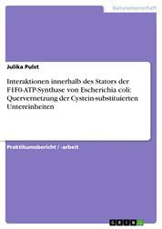 Interaktionen innerhalb des Stators der F1F0-ATP-Synthase von Escherichia coli: Quervernetzung der Cystein-substituierten Untereinheiten