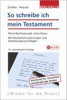 Finn Zwißler: So schreibe ich mein Testament