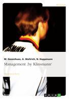 M. Gesenhues: Management 'by Klinsmann'
