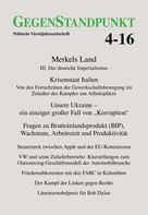 GegenStandpunkt Verlag München: GegenStandpunkt 4-16