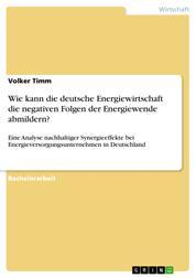 Wie kann die deutsche Energiewirtschaft die negativen Folgen der Energiewende abmildern? - Eine Analyse nachhaltiger Synergieeffekte bei Energieversorgungsunternehmen in Deutschland