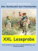 Alexander Kronenheim: XXL LESEPROBE - Die Schlacht bei Fehrbellin