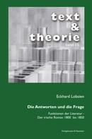 Eckhard Lobsien: Die Antworten und die Frage