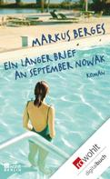 Markus Berges: Ein langer Brief an September Nowak ★★