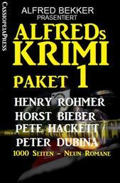 Alfreds Krimi Paket 1 - Alfred Bekker präsentiert: 1000 Seiten - Neun Romane: Cassiopeiapress Thriller Spannung