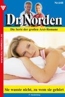 Patricia Vandenberg: Dr. Norden 648 – Arztroman ★★★★