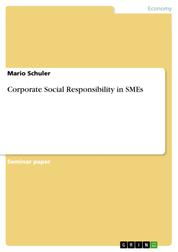 Corporate Social Responsibility in SMEs