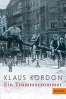 Klaus Kordon: Ein Trümmersommer ★★★★★