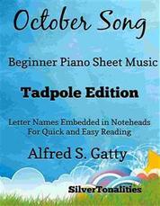 October Song Beginner Piano Sheet Music Tadpole Edition