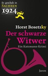 Der schwarze Witwer - Katzmanns vierter Fall. Kriminalroman (Es geschah in Sachsen 1924)