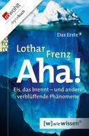 Lothar Frenz: Aha! ★★★★