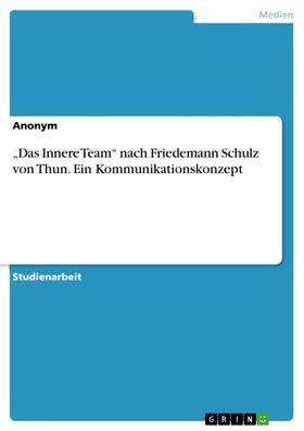 """""""Das Innere Team"""" nach Friedemann Schulz von Thun. Ein Kommunikationskonzept"""